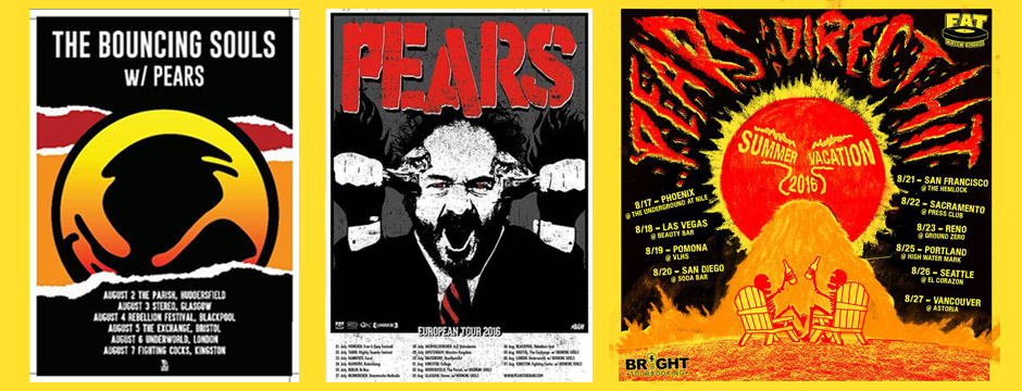 PEARS Summer Tour 2016 with Bouncing Souls, Direct Hit, & More!