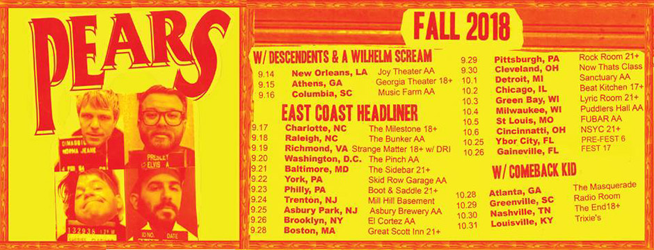 PEARS US Fall Tour 2018
